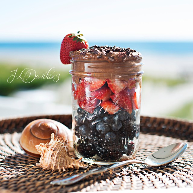 Berries with Cacao Cashew Cream
